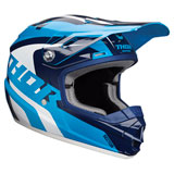 Thor Youth Sector Ricochet Helmet Blue/Navy/White
