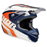 Thor Youth Sector Ricochet Helmet White/Navy/Orange