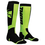 Thor Youth MX Socks Black/Lime