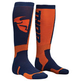 Thor Youth MX Socks Navy/Orange