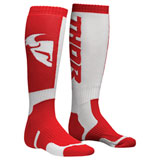 Thor Youth MX Socks Red/White