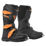 Thor Youth Blitz XP Boots Charcoal/Orange