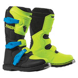 Thor Youth Blitz XP Boots Flo Acid/Black