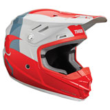 Thor Youth Sector Shear Helmet Red/Light Grey