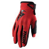 Thor Youth Sector Gloves Red