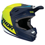 Thor Youth Sector Blade Helmet Navy/Acid