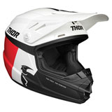 Thor Youth Sector Racer Helmet White/Blue/Red