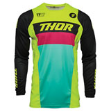 Thor Youth Pulse Racer Jersey Acid/Black