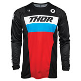 Thor Youth Pulse Racer Jersey Black/Red/Blue