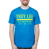 Troy Lee Clean Cut T-Shirt Turquoise/Yellow