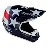 Troy Lee Youth SE4 Freedom MIPS Helmet Red/White