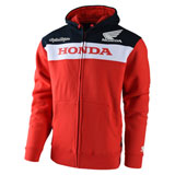Troy Lee Honda Zip-Up Hooded Sweatshirt Red