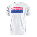 Troy Lee Baseplate T-Shirt White/Red/Blue