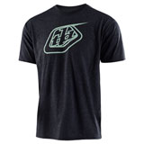 Troy Lee Logo T-Shirt 2019 Charcoal Heather/Green