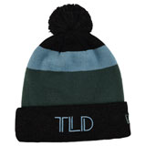 Troy Lee TLD Block Pom Beanie Charcoal Heather/Stone Blue