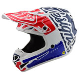 Troy Lee SE4 Factory w/MIPS Helmet White/Blue