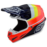 Troy Lee SE4 LTD Mirage Carbon MIPS Helmet Blue/Red