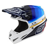 Troy Lee SE4 LTD Mirage Carbon MIPS Helmet Navy/White