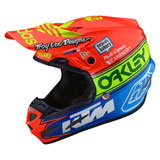 Troy Lee SE4 Team Edition 2 Composite MIPS Helmet Orange/Blue