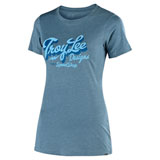 Troy Lee Women's Vintage Speed Shop T-Shirt Indigo