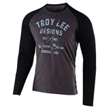 Troy Lee Vintage Race Shop Long Sleeve T-Shirt Charcoal/Black
