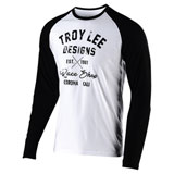 Troy Lee Vintage Race Shop Long Sleeve T-Shirt White/Black
