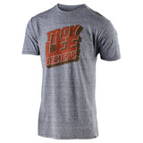 Troy Lee Block Party T-Shirt Vintage Grey Snow
