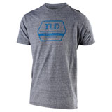 Troy Lee Factory T-Shirt Vintage Grey Snow/Cyan