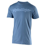 Troy Lee Signature T-Shirt Steel Blue/Lilac