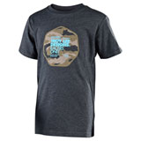 Troy Lee Youth Race Camo T-Shirt Heather Charcoal
