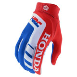Troy Lee Air Honda Gloves Red/White/Blue