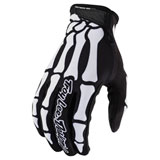 Troy Lee Youth Air Skully Gloves Black/White