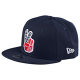 Troy Lee Peace Sign Snapback Hat Navy