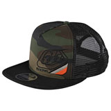 Troy Lee Precision 2.0 Snapback Hat Green Camo