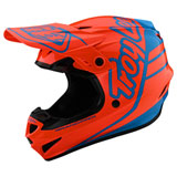 Troy Lee Youth GP Silhouette Helmet Orange/Cyan