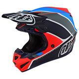 Troy Lee Youth SE4 Beta MIPS Helmet Orange/Navy