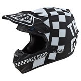 Troy Lee Youth SE4 Checker MIPS Helmet Black/White