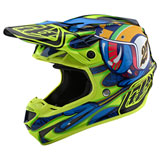 Troy Lee SE4 Eyeball Composite MIPS Helmet Navy/Yellow