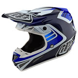 Troy Lee SE4 Flash Carbon MIPS Helmet Blue/White