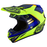Troy Lee SE4 Flash Composite MIPS Helmet Yellow/Blue