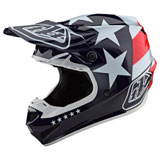 Troy Lee SE4 Freedom MIPS Helmet Red/White
