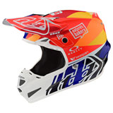 Troy Lee SE4 Jet Composite MIPS Helmet Orange/Navy
