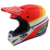 Troy Lee SE4 KTM Mirage Composite MIPS Helmet White/Red