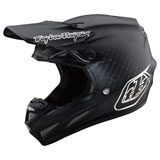 Troy Lee SE4 Midnight Carbon MIPS Helmet Black/Chrome