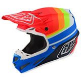 Troy Lee SE4 Mirage Composite MIPS Helmet Blue/Red