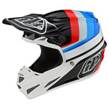 Troy Lee SE4 Mirage Composite MIPS Helmet White/Black
