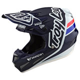 Troy Lee SE4 Silhouette Carbon MIPS Helmet Blue/White