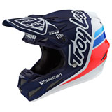 Troy Lee SE4 Silhouette Team Composite MIPS Helmet Navy/White