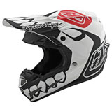 Troy Lee SE4 Skully Composite MIPS Helmet White/Black