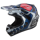 Troy Lee Youth SE4 Skully MIPS Helmet Silver